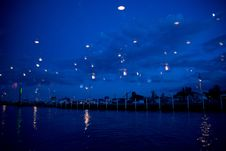 Free Light Reflections On The Waterfront Stock Photography - 33710962