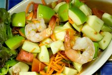 Free Apple Shrimp Salad Thai Style Stock Photography - 33711992