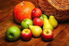 Free Apple, Pear, Pumpkin Royalty Free Stock Photo - 33714315