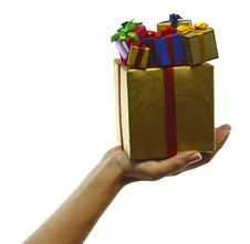 Free Hand With Big And Small Boxes Stock Photos - 33715473