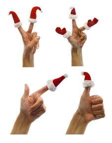 Free Set Of Hands With Finger Hats Royalty Free Stock Images - 33716079
