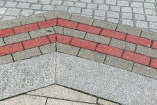 Free Street Pavement Pattern With Grey And Pink Stones Royalty Free Stock Image - 33716256