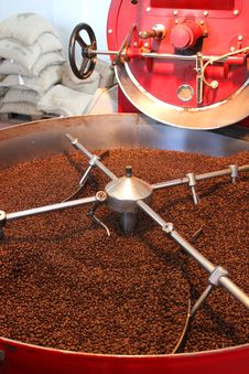 Roasting Coffee Beans Royalty Free Stock Image