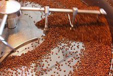 Free Aeration Roasted Coffee Beans Royalty Free Stock Images - 33718249