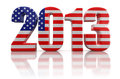 Free 2013 And US Flag Stock Photography - 33721352