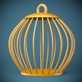 Free Golden Bird Cage Royalty Free Stock Photography - 33724947