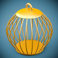 Free Golden Bird Cage Stock Photography - 33724952