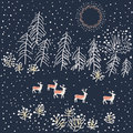 Free Winter Scene - Illustration Stock Images - 33725624