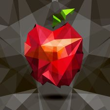Free Vector Image Of Apple In Style Origami. Royalty Free Stock Photo - 33720255