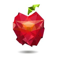 Free Vector Image Of Apple In Style Origami. Royalty Free Stock Images - 33720269