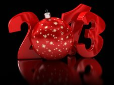 Christmas Ball 2013  &x28;clipping Path Included&x29; Stock Images