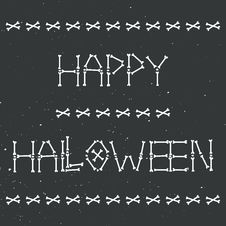 Free Happy Halloween Skeleton Greeting Card Stock Images - 33722524