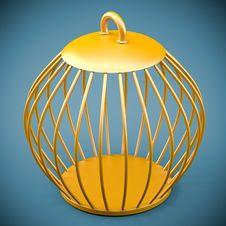 Golden Bird Cage Stock Photography