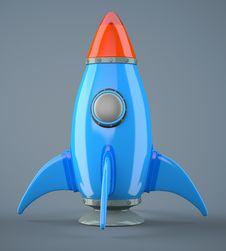 Free Cartoon-styled Rocket Royalty Free Stock Photography - 33725017
