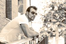 Free Portrait Of Man With Sunglasses. Stock Photography - 33727462