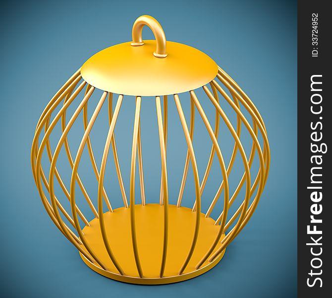 Golden bird cage