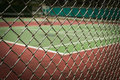 Free Tennis Court In Metal Fence Royalty Free Stock Photography - 33737617