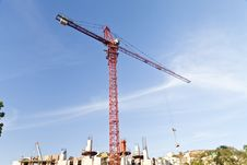 Free Lifting Crane Royalty Free Stock Photography - 33734207