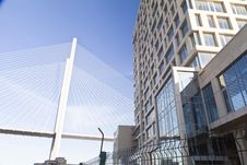 Free Big Suspension Bridge Royalty Free Stock Photo - 33734255