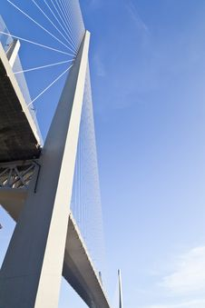 Big Suspension Bridge Royalty Free Stock Photo