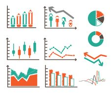 Free Vector Set Of Graphs Stock Image - 33735511