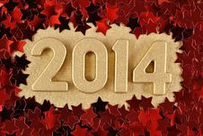 Free 2014 Year Golden Figures Royalty Free Stock Photos - 33735758