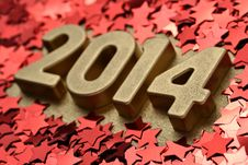 Free 2014 Year Golden Figures Stock Image - 33735771