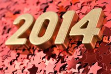 Free 2014 Year Golden Figures Stock Images - 33735774