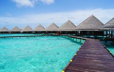 Free Water Bungalows Stock Photography - 33736562
