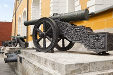 Old Cannons. Arsenal Of The Moscow Kremlin. Royalty Free Stock Photos
