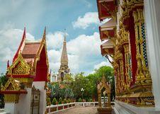 Free Chalong Temple, Phuket, Thailand Royalty Free Stock Photo - 33739145