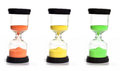Free Colored Sand Clocks Stock Photography - 33743452