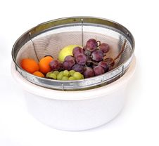 Summer Fruits In A Bucket Royalty Free Stock Photos