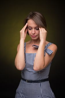Free Woman With Headache Stock Images - 33747834