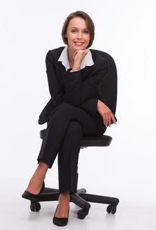 Free Businesswoman Sit On Chair Royalty Free Stock Photography - 33748237