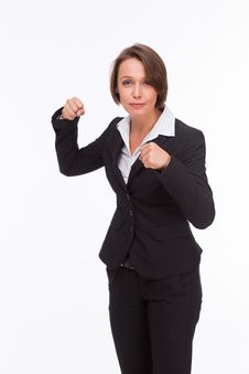 Free Business Woman Ready For Competition And Fight Royalty Free Stock Photography - 33748267