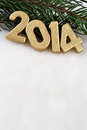 Free 2014 Year Golden Figures Royalty Free Stock Image - 33755626