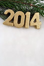 Free 2014 Year Golden Figures Royalty Free Stock Images - 33755639