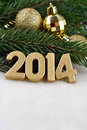 Free 2014 Year Golden Figures Royalty Free Stock Images - 33755659