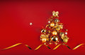 Free Christmas Tree With Golden Balls Stock Image - 33755881