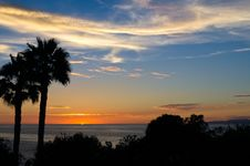 Free California Sunset Royalty Free Stock Photo - 33750545