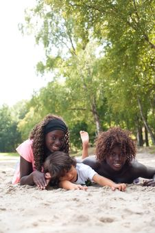 Free Summertime With The Ethnic Children Royalty Free Stock Image - 33751896