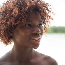 Free Portrait Of A Black Girl Stock Images - 33751924