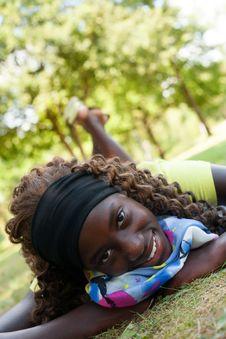 Free Lovely Teenage Black Girl Royalty Free Stock Photo - 33751995
