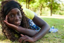 Free Happy Teenage Black Girl Stock Photo - 33752010