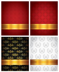 Free Set Of Decorative Backgrounds Royalty Free Stock Photos - 33752838