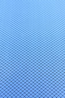 Mesh On Blue Background Royalty Free Stock Photo