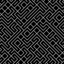 Free Seamless Maze Background Royalty Free Stock Photo - 33755075