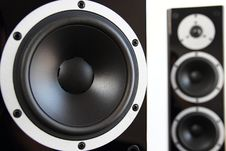 Free Black Audio Speakers Royalty Free Stock Images - 33755199