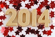 Free 2014 Year Golden Figures Stock Images - 33755534
